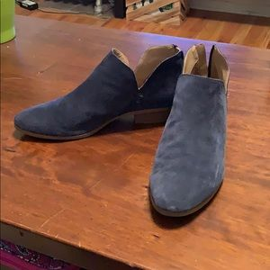 Blue Suede Kenneth Cole Reaction Booties